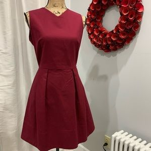 Gap red fit and flare dress size 10